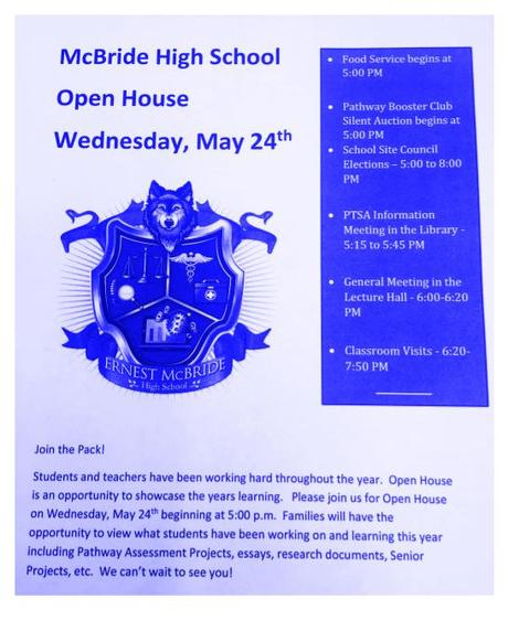 Open House - Wednesday